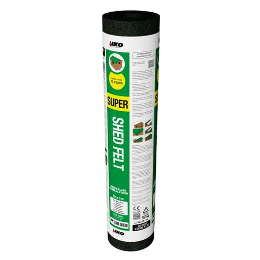 Shed Roof Felt Heavy Duty Green 8 x 1m-Armstrong Supplies