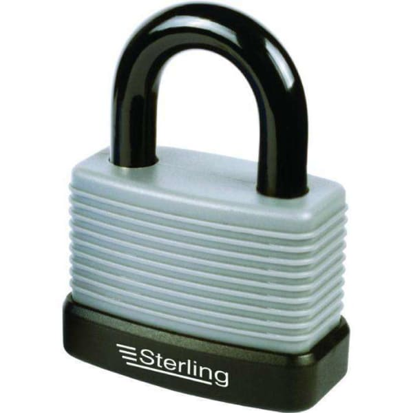 Sterling Aluminium Weatherproof Padlock with Thermoplastic Cover 57mm-Armstrong Supplies