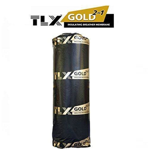 TLX Gold Multi Foil Thermal Insulation | Breathable Membrane | 2 in 1 | 10m x 1.2m-Gold-Armstrong Supplies
