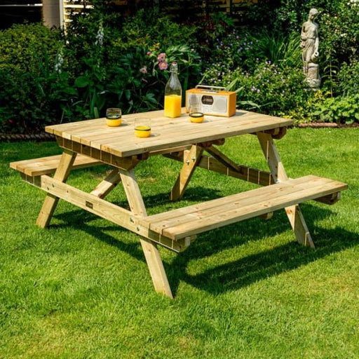 Traditional Wooden Picnic Bench