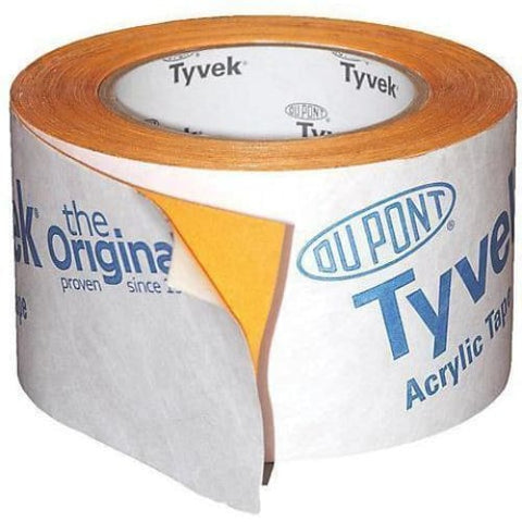 Tyvek Acrylic Single Sided Tape 75mm x 25m-Armstrong Supplies
