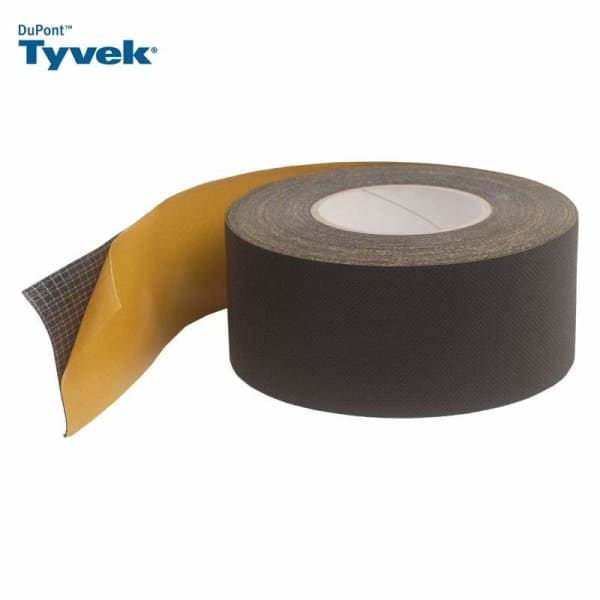 Tyvek UV Facade Black Single Sided Tape 75mm x 25m