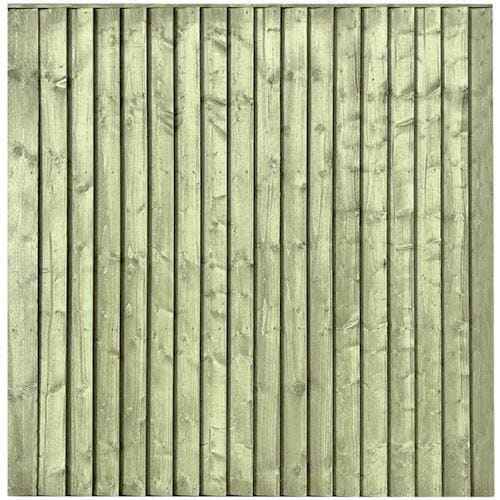 Vertical Board Featheredge Fence Panel Pressure Treated