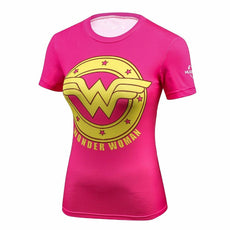 Ladies Pink Wonder Woman High-Quality T-shirt