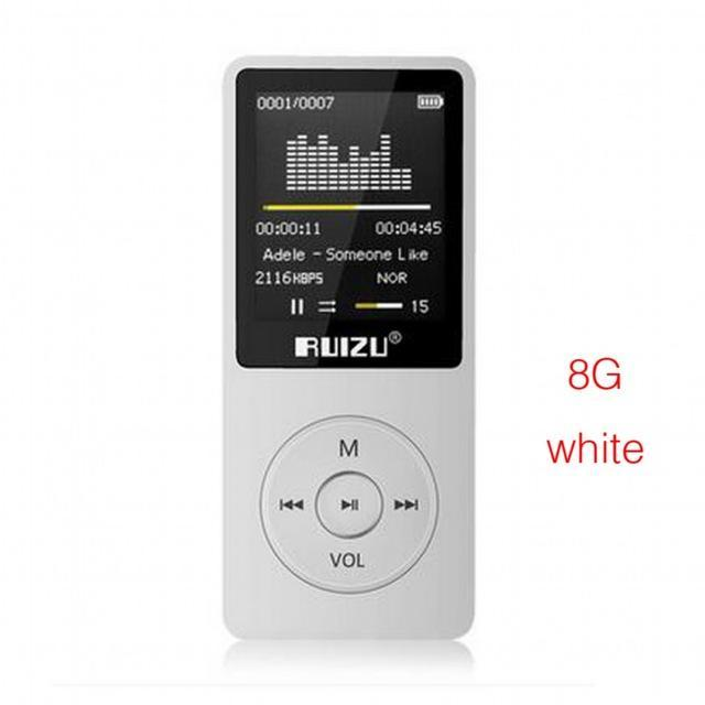 2018 100% Original English version Ultra-thin MP3 Player with 8GB storage and 1.8 Inch Screen can play 80h, Original RUIZU X02