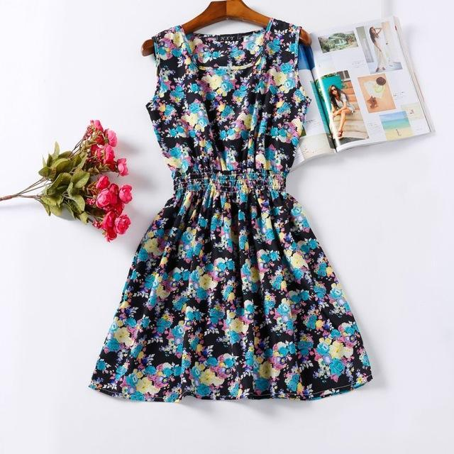 Floral Dark High-quality Summer Women Casual Dress