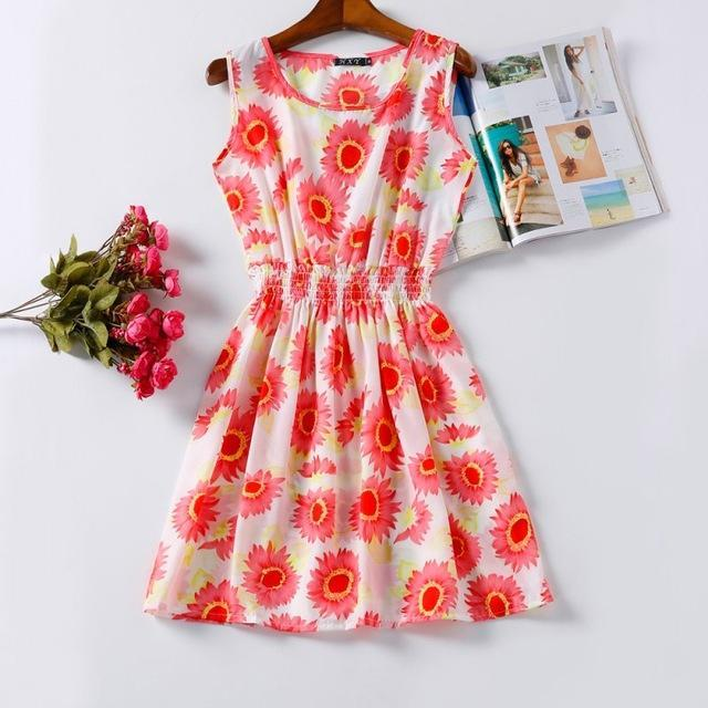 Floral Pink High-quality Summer Women Casual Dress