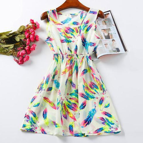 Tyanggi Mini Store dress Style Two / S Floral Purple High-quality Summer Women Casual Dress