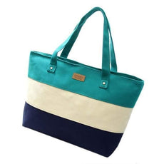 Canvas Striped Tote Bags