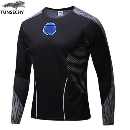 Exclusive High-Quality Black Iron Man Long Sleeves