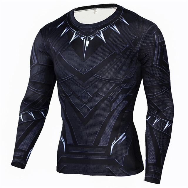 Black Panther Superhero MMA Sports Workout Gear