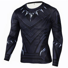 Mens Black Panther Sports Workout Gear