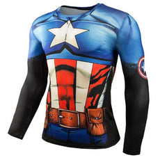 Mens Captain America Sports Workout Gear