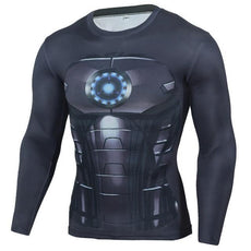 Mens Black Iron Man Sports Workout Gear