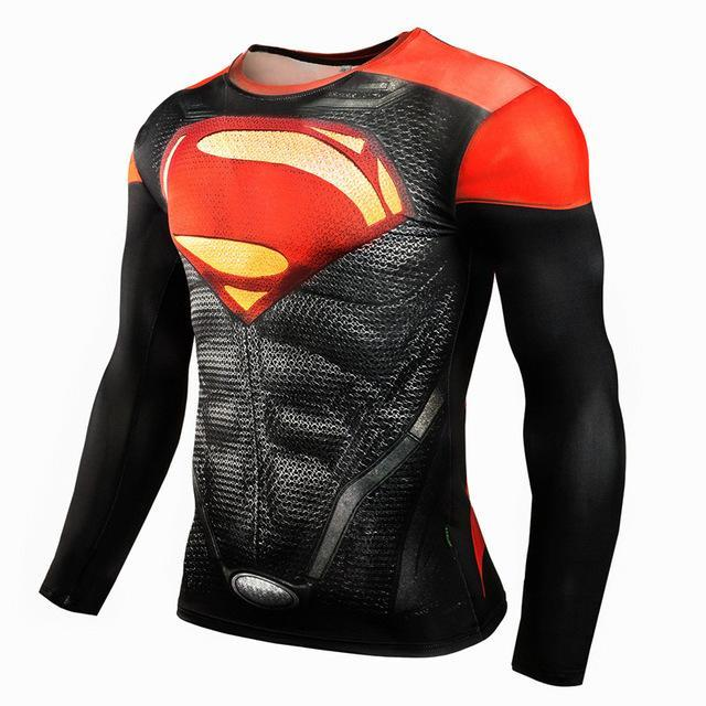Red Superman MMA Sports Workout Gear