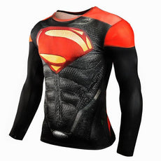 Mens Red Superman 3D Print Sports Workout