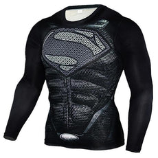 Mens Superman 3D Print Sports Workout