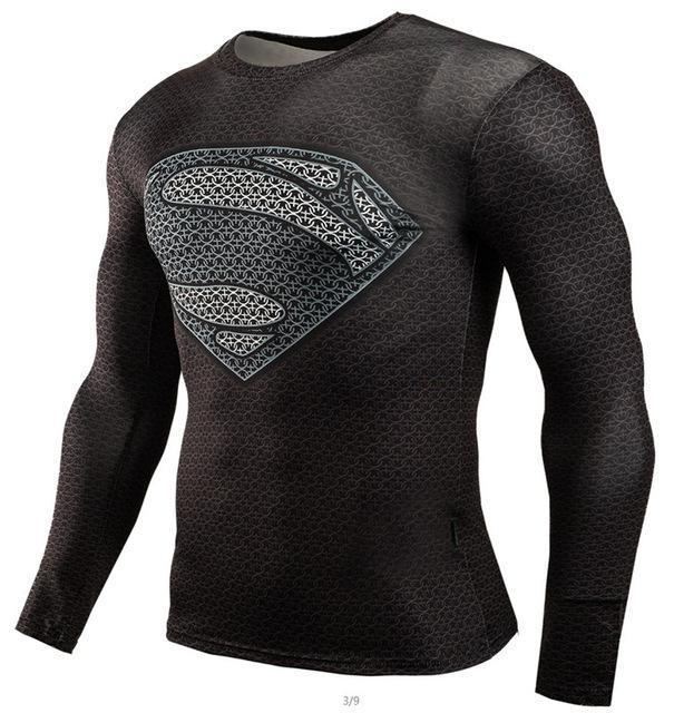 Superman Superhero MMA Sports Workout Gear
