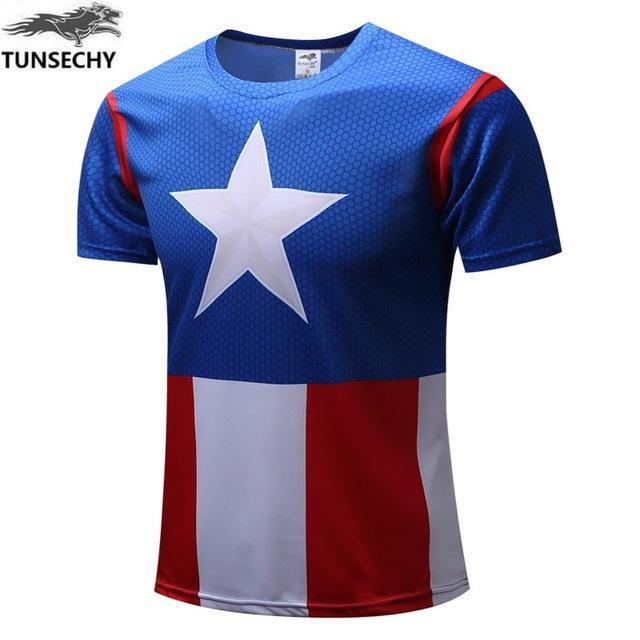 Exclusive High-Quality Captain America US Flag T-shirt
