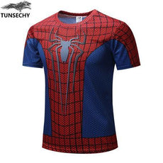 Mens Spiderman 3D Print High-Quality T-shirt