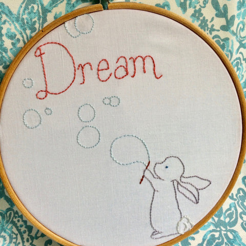 PDF Embroidery Pattern: Bunny Dreams