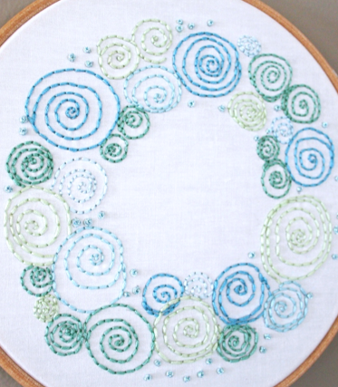 PDF EMBROIDERY PATTERN- Celestial Wreath