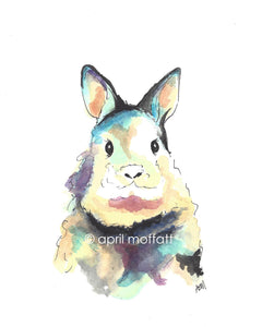 WATERCOLOR BUNNY Art Print