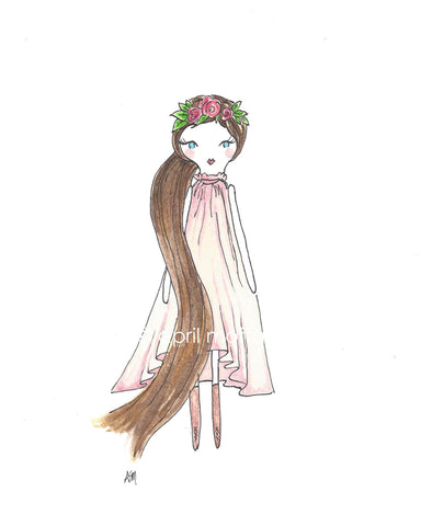 GYPSY PRINCESS Watercolor Art Print