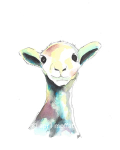 WATERCOLOR LAMB Art Print
