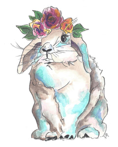 WOODLAND BUNNY WITH FLORA CROWN