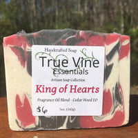 King of Hearts - Cedar Wood, Masculine Inspired, Soap Bar