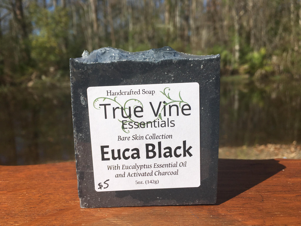 Euca Black - Soap Bar with eucalyptus and activated charcoal