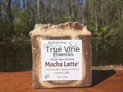 Mocha Latte - Soap Bar with fresh coffee grounds for exfoliation