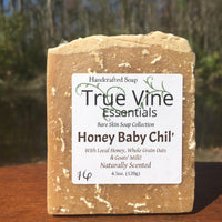Honey Baby Chil' - Soap bar with local honey, whole grain oats, and goats' milk
