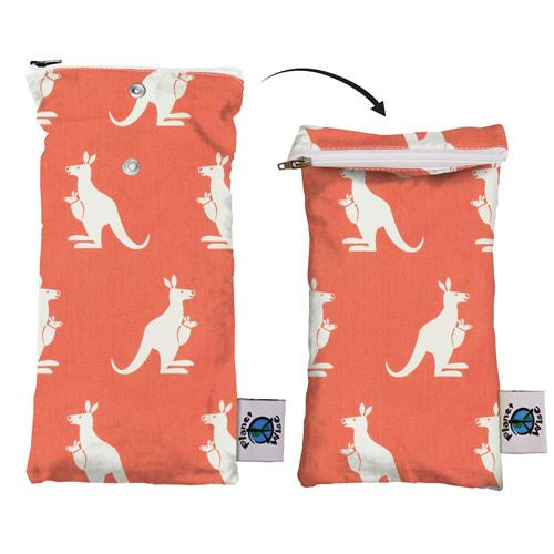 Wipe Pouch - Coral Kangaroo Twill