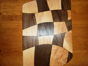 Wave serving/cutting board