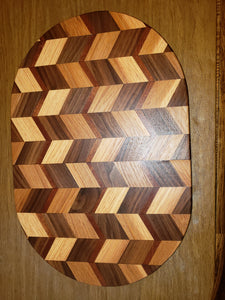 3D Oval Wave Cutting Board