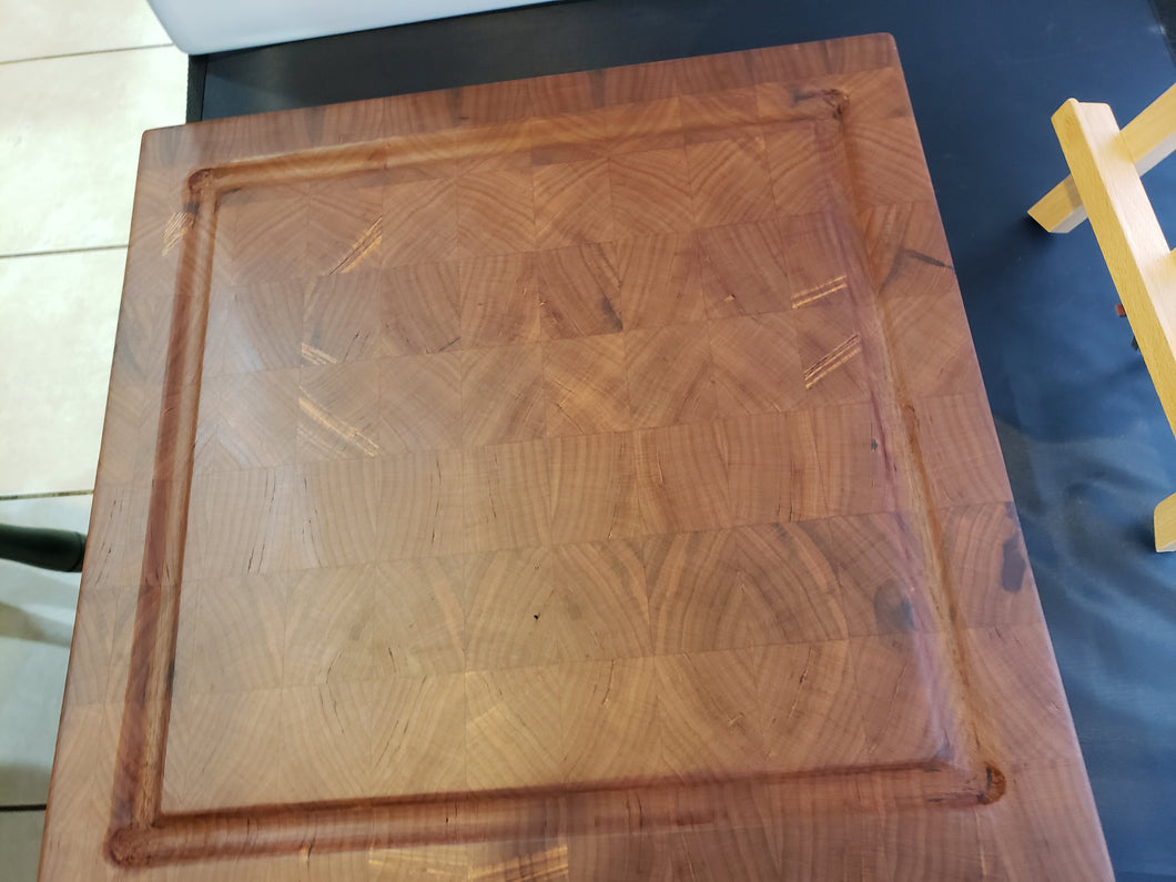 Large Cherry Hardwood Chopping Block