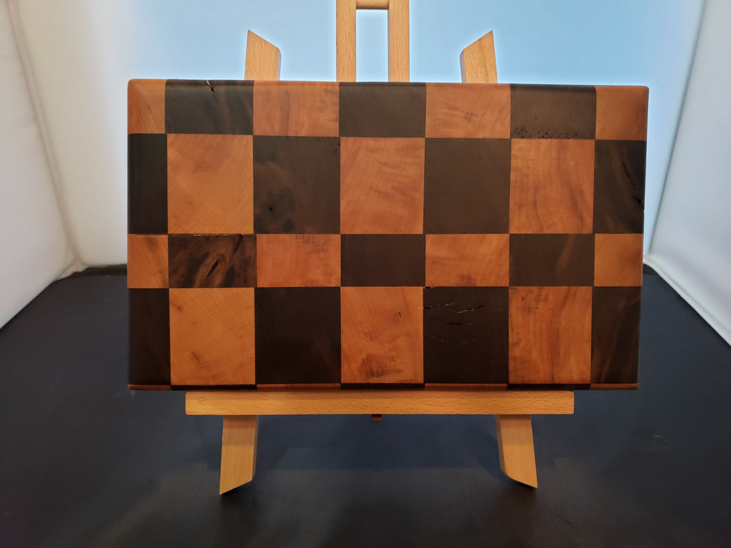 Black Walnut & Hard Maple Checker Style Chopping Block