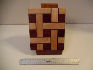 Small 3D Basket Weave Cutting Board