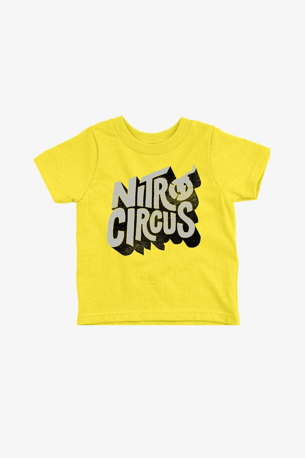 Curved Toddler T-Shirt Yellow