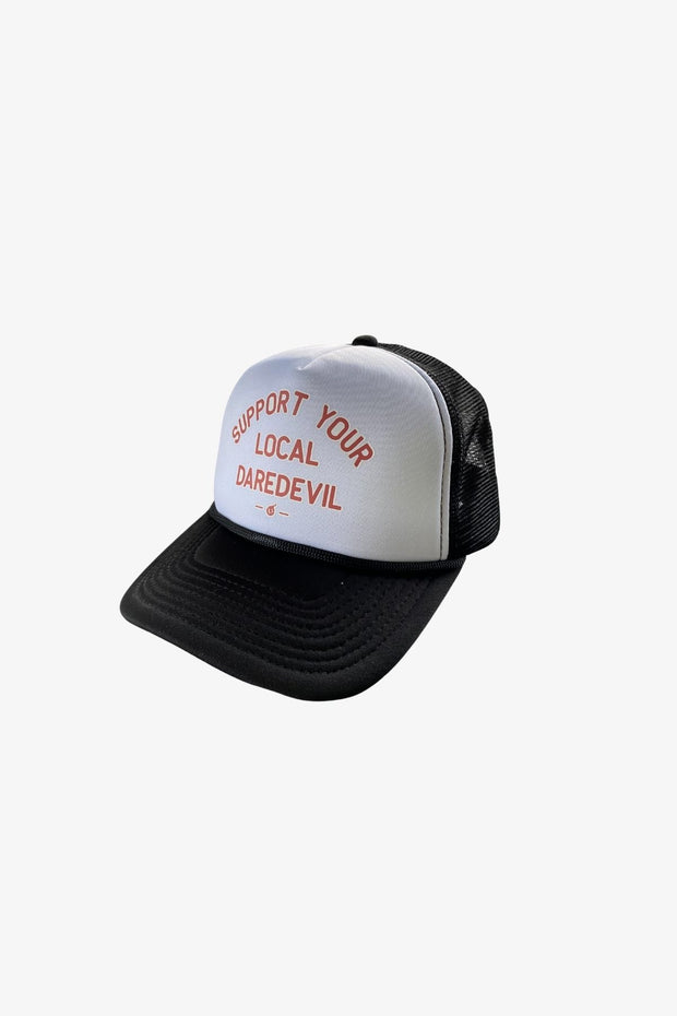 Support Your Local Daredevil Trucker Hat White