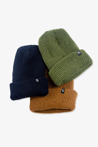 Rumble Ribbed Beanie Navy