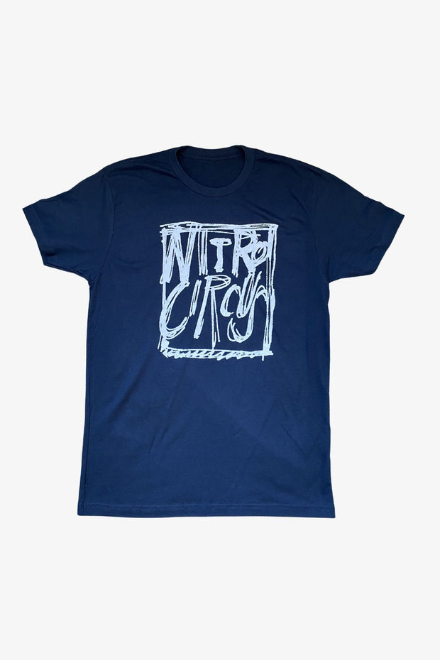 Sketched Square T-Shirt Navy