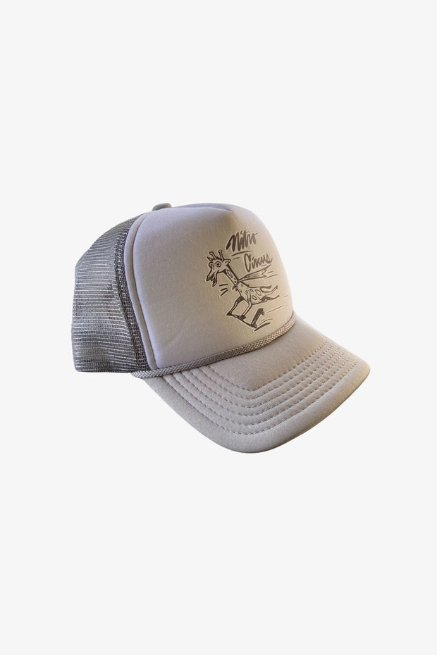 Youth Scooter Giraffe Trucker Hat Gray