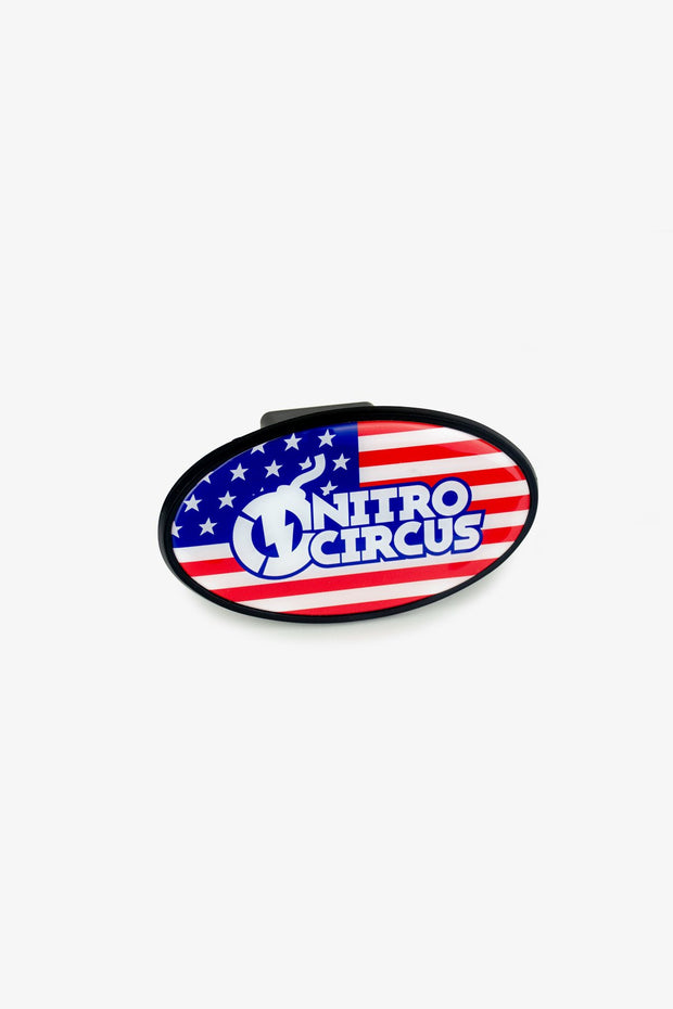 Nitro Circus Flag Logo Trailer Hitch Cover