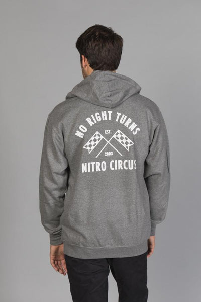 No Right Turns Men's Hoodie