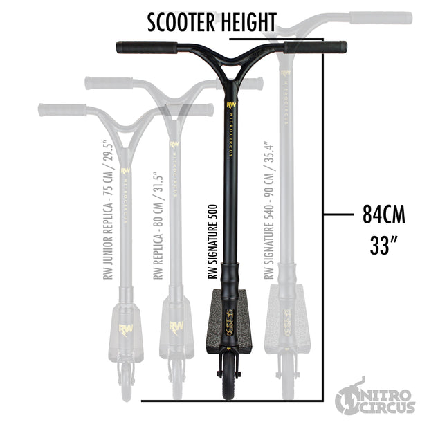 RW Signature 500 Pro Scooter Matte Black