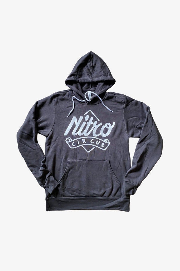 Pennant Hoodie Charcoal Gray