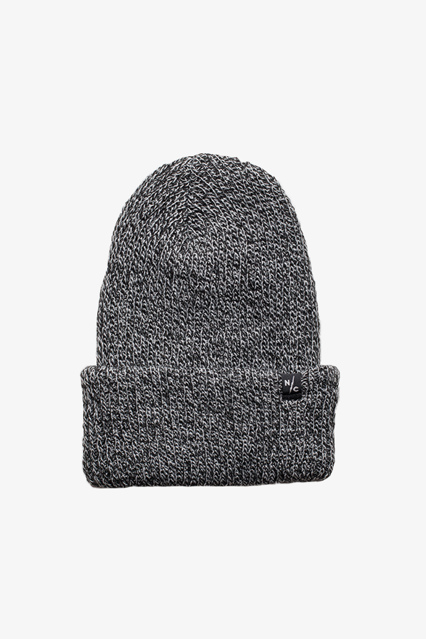 Rumble Ribbed Beanie Black/White